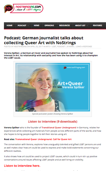 Podcast: German journalist talks about collecting Queer Art with NoStrings